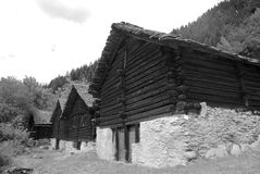 Mountain Chalets Stock Photos