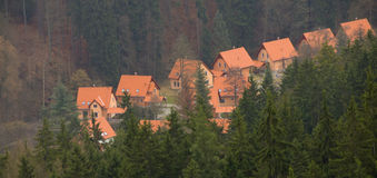 Mountain Chalets Stock Image