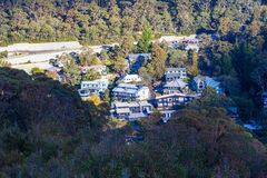 Mountain chalets in Thredbo Village, Mount Kosciuszko National P Royalty Free Stock Images