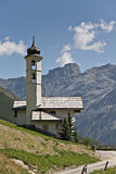 Mountain chapel Stock Image