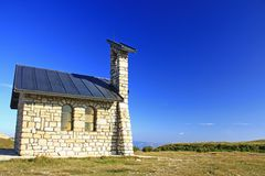 Mountain chapel Stock Photography