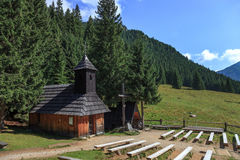 Mountain chapel Stock Image