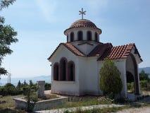 mountain chapel in Greece stock photo