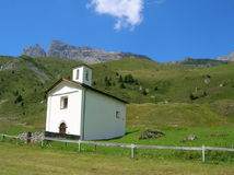 Chapel in the Swiss Alps Stock Image