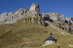 Mountain chapel  on the pass Klausen Stock Photography