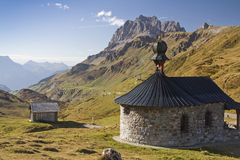 Mountain chapel  on the pass Klausen Stock Photos