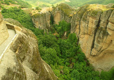Mountain chasm in Greece Stock Photography