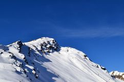 Mountain Cheget peak. Mountain Cheget peak, - Elbrus district. Frosty fresh air. Clear and sunny weather. Kabardino-Balkar Republic. Photo taken on:  November 4 Stock Image