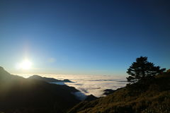 Mountain of Chillai Hill in Taiwan Royalty Free Stock Photos