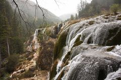 mountain chmurna niebo wodospadu Obrazy Stock