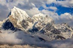 Mountain Cholatse and Tabuche Peak. Himalayas. Nepal Royalty Free Stock Photography