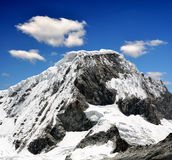 Mountain Chopicalqui -  Peru. A summit in the Cordillera Blanca - Mountain Chopicalqui , Peru Royalty Free Stock Photography