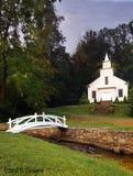 Mountain Church. A small mountain church found in NC Stock Photo