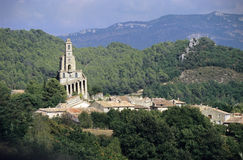 Mountain Church. An old stone church in the Alpille mountains of the south of France Stock Photo