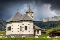 Free Mountain Church At Passo San Pellegrino Royalty Free Stock Images - 68404109