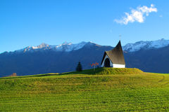 Mountain church, a destination for climbers and hikers Royalty Free Stock Images