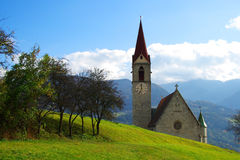 Mountain church, a destination for climbers and hikers. Mountain church of Veltruno, a destination for climbers and hikers Royalty Free Stock Photo