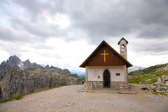 Mountain church Dolomities, Dolomiti - Italy Royalty Free Stock Image