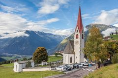 Mountain church in South Tyrol Royalty Free Stock Photography