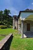 Mountain church, Vercio, Ossola, Italy. Stone Architecture Royalty Free Stock Photo