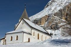 Mountain church in winter Royalty Free Stock Photos