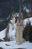 Mountain church in winter Royalty Free Stock Images