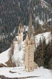 Mountain church in winter Stock Photos