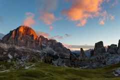 Mountain Cinque Torri Royalty Free Stock Images