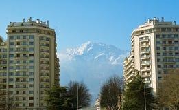 Mountain city Royalty Free Stock Photos