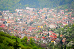 Mountain city panorama Royalty Free Stock Images