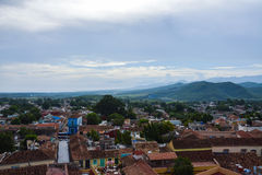 Mountain and city view. Trinidad, Cuba. General view from the top of Trinidad church to the valley stock images