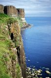 Mountain Cliff. Cliff in the ocean royalty free stock photos
