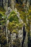 Mountain cliff closeup Stock Photos