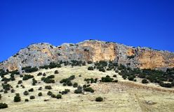 Mountain with a cliff in Malaga, Andalusia, Spain, Europe Stock Images