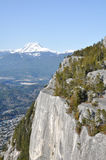 Mountain cliff view. View from the Chief hike in British Columbia, Canada Royalty Free Stock Images