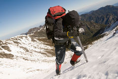 Mountain climber Stock Photo
