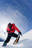 Mountain climber royalty free stock photo