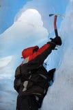 Mountain climber. A Mountain climber at Perito Moreno Glacier, Patagonia, Chile stock image