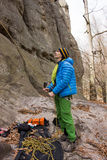 Mountain climber Royalty Free Stock Photography
