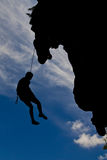 Mountain climber, Rai lay beach, south of Thailand Royalty Free Stock Images