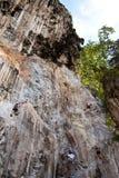 Mountain climber, Rai lay beach, south of Thailand Stock Images