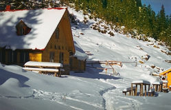 Mountain Climber Shelter royalty free stock photography