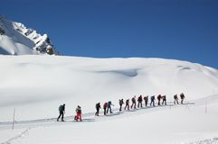 Mountain climbers Stock Photos