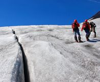 Mountain climbers Stock Image