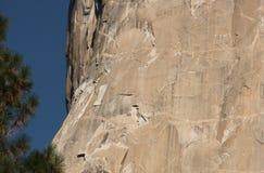 Mountain Climbers on El Capitan. In Yosemite National Park stock photos