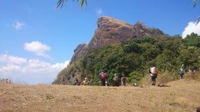 Mountain Climbers Trekking Royalty Free Stock Photography