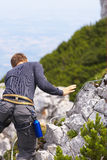 Mountain climbing stock photo