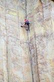 Mountain climbing Stock Images