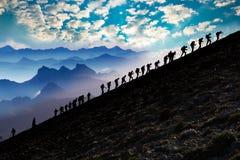 Mountain climbing activity stock photography