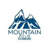 Mountain climbing alpine sport vector icon Royalty Free Stock Image